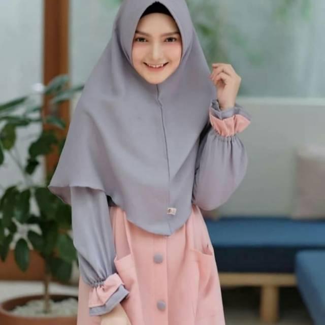 Fashion Muslim Baju Gamis Syari Wanita Terbaru Zovira Syari Murah Shopee Indonesia