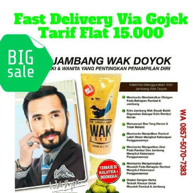 WAK DOYOK - CREAM JAMBANG - PENUMBUH KUMIS, ALIS, JAMBANG, RAMBUT   Shopee Indonesia