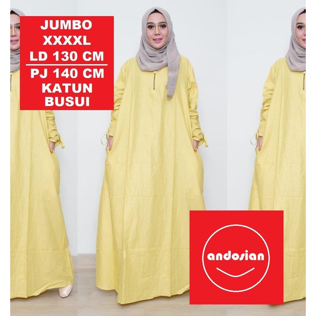 Baju Gamis Besar Polo Maxi Cotton Import Bordir Halus Full Nanami Muslim Lebaran Bahan Nyaman Kancing Ld 116 Fit M Xxl Makaya Shopee Indonesia
