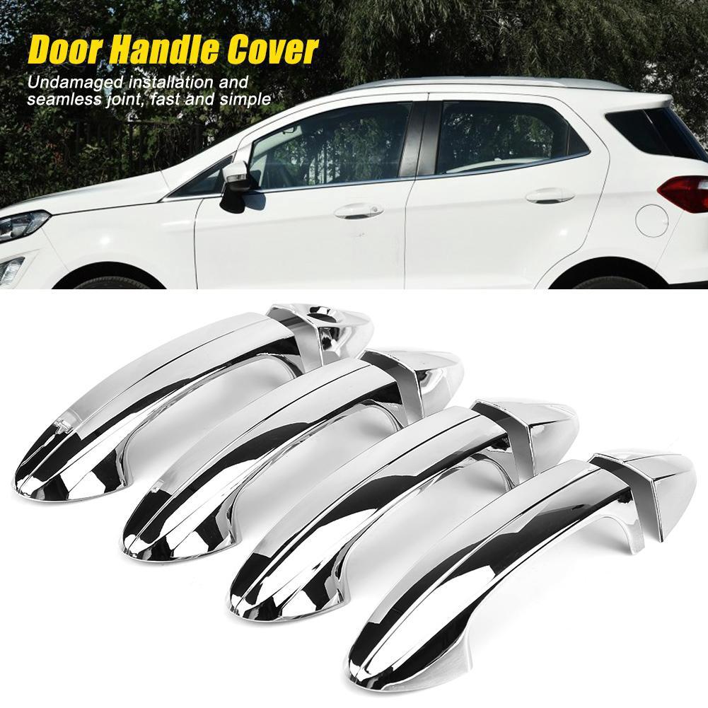 8pcs Cover Trim Handle Pintu Mobil Warna Silver Untuk Ford Fiesta 2009 2012 Shopee Indonesia