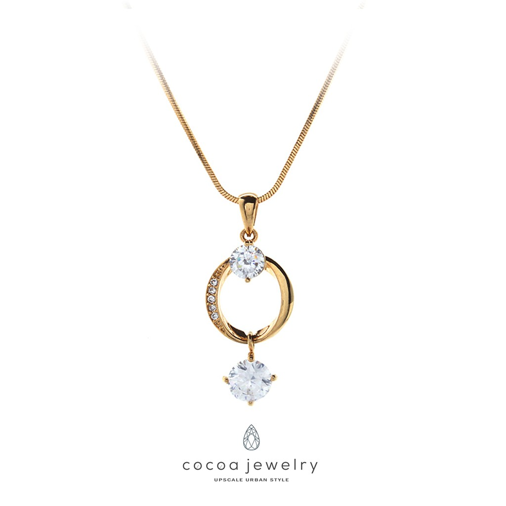Cocoa Jewelry Kalung The Blue Night Of Love Shopee Indonesia 1901 258 26 Lapis Emas
