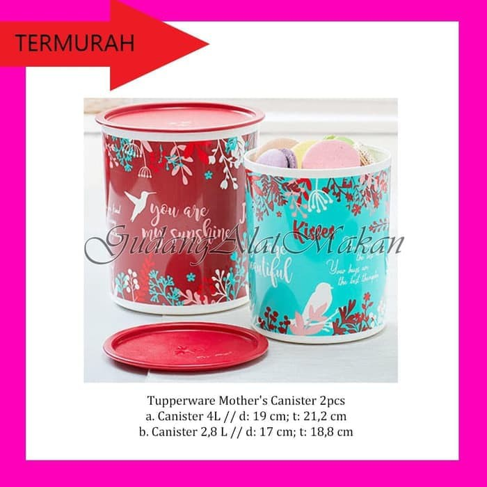 Promo Tupperware Tea Time Canister (3) wadah susu kopi kedap udara | Shopee Indonesia