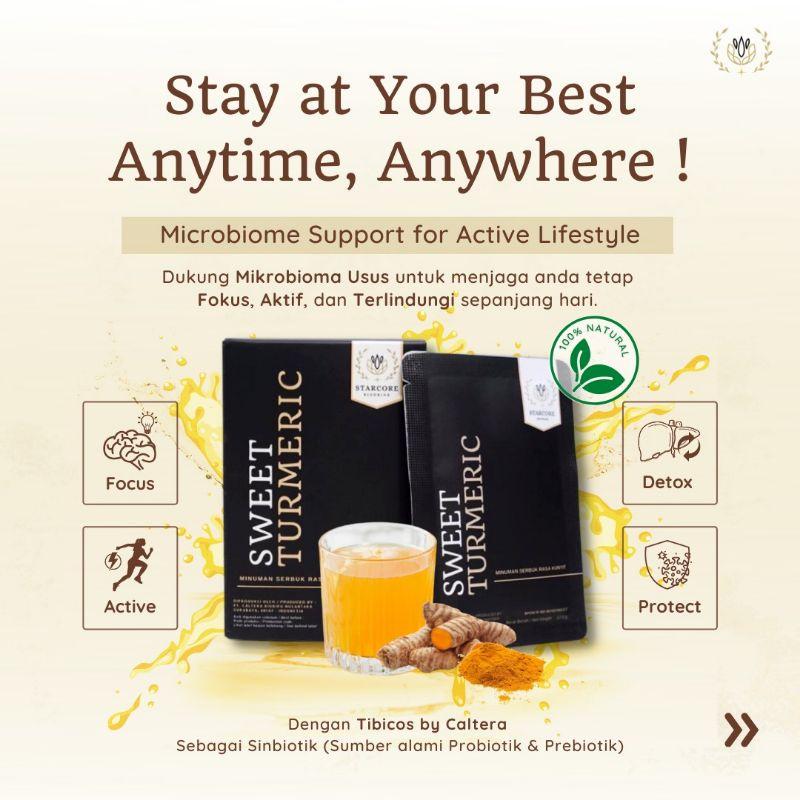 Starcore Biodrink Sweet Turmeric (berat bersih 12.5gr 15sachets)