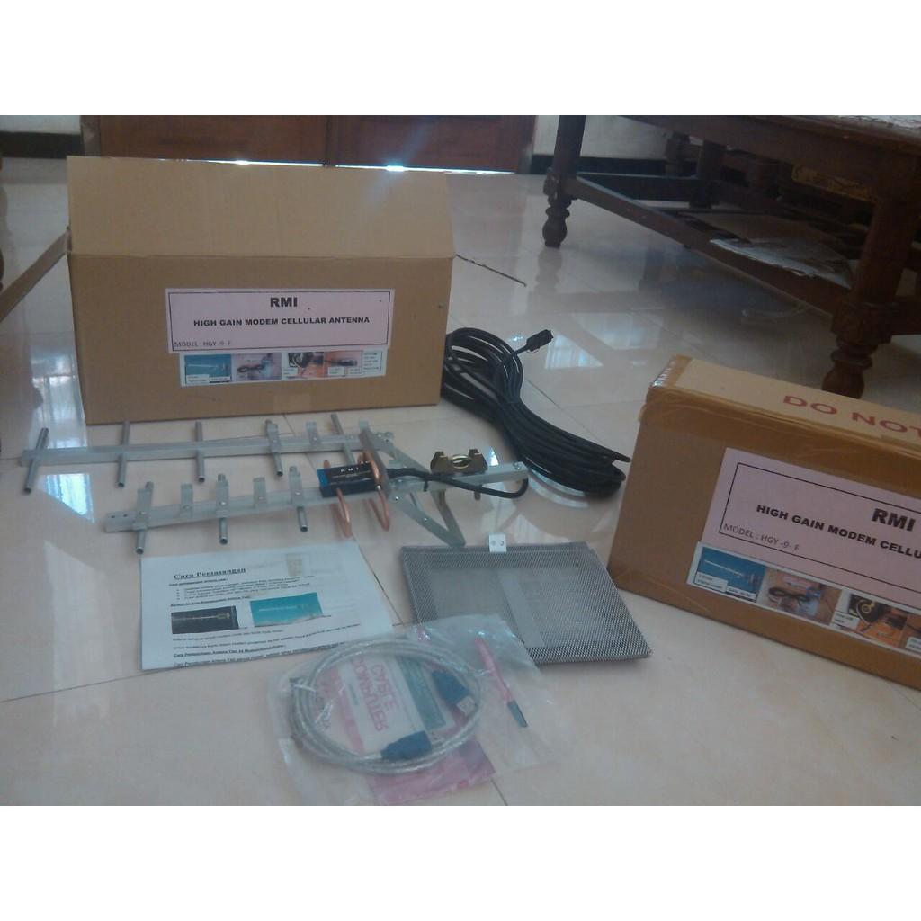 Antena Yagi Txr 185 Triple Driven Untuk Modem Bolt Slim 2 Pigtail Extreme 3 Dual Ts9 Port Single Shopee Indonesia