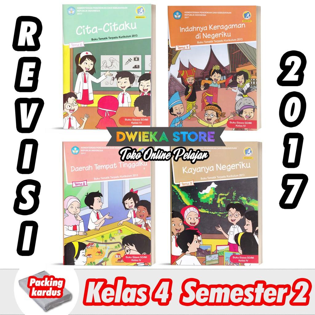 Paket Buku Tematik Sd Kelas 4 Semester 2 Tema 6 7 8 9 Kurikulum 2013 Revisi 2017 Cetakan 2020 Shopee Indonesia