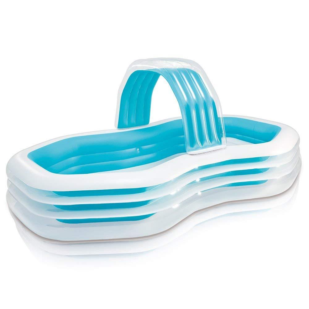 Intex Kolam Renang Swim Center Cabana Pool 57198 See Through Round 57489 Blue Prism Frame Rectanguler Set 26772 Free Kiwi Slice Mat Shopee Indonesia