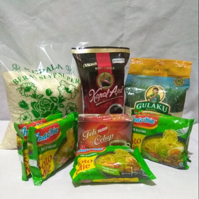 Paket Sembako Murah 5 - Beras, Gula, Kopi, Teh, Mie