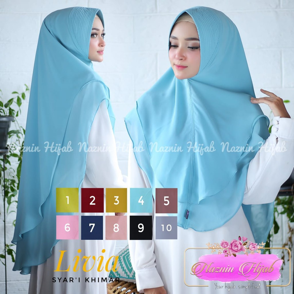 Hijab Khimar Pinguin 2 Layer Dengan Soft Pet Antem Shopee Indonesia Jilbab Ellya Sj0035