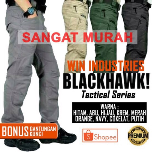 Celana tactical panjang | celana blackhawk panjang | celana pria | celana wanita | cargo | outdoor | Shopee Indonesia