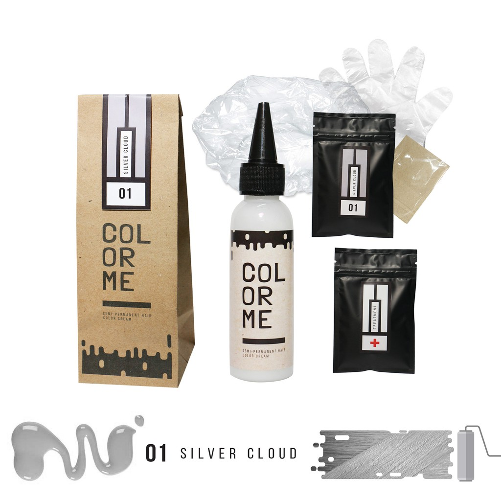 Color Me Silver Cloud Hair Color