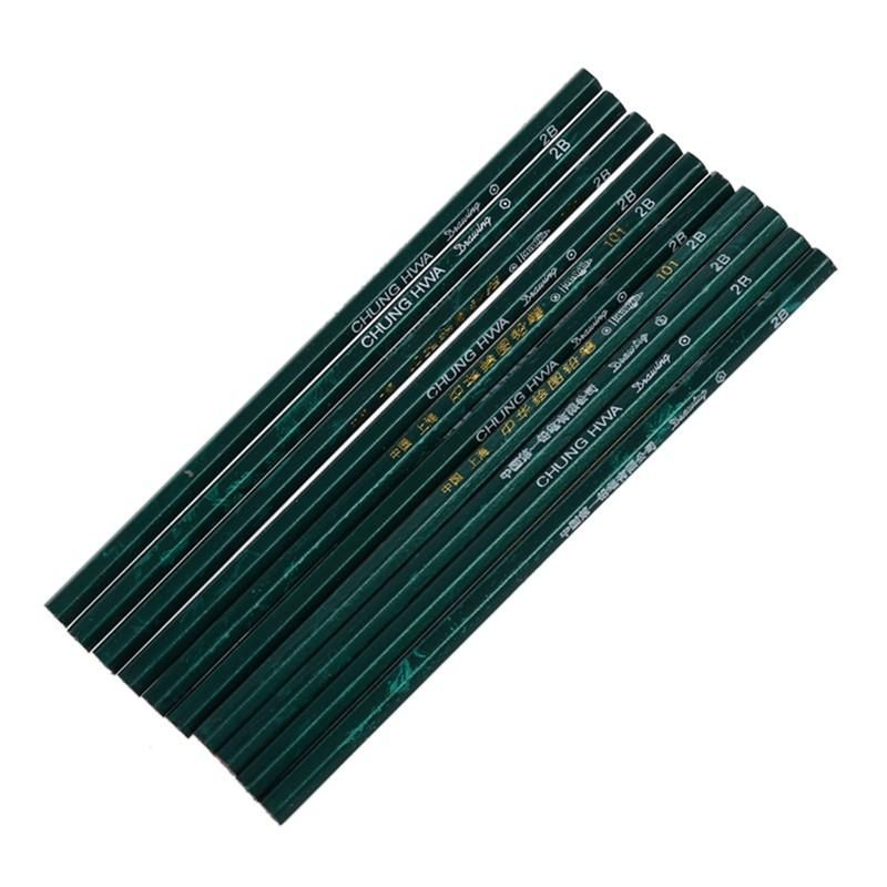 10Pcs Pensil 2H 2B .