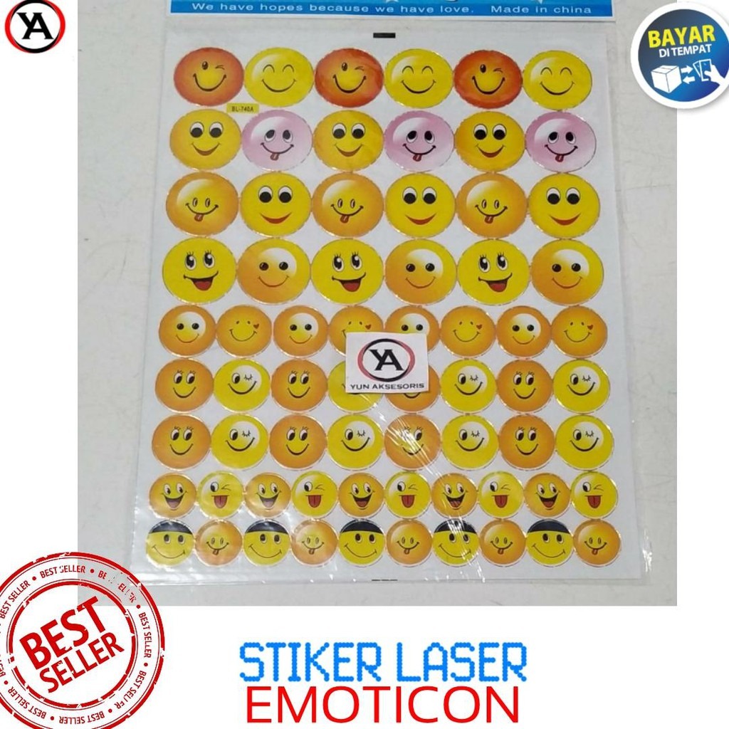 Stiker Sticker Anak Edukatif Gambar Emoticon
