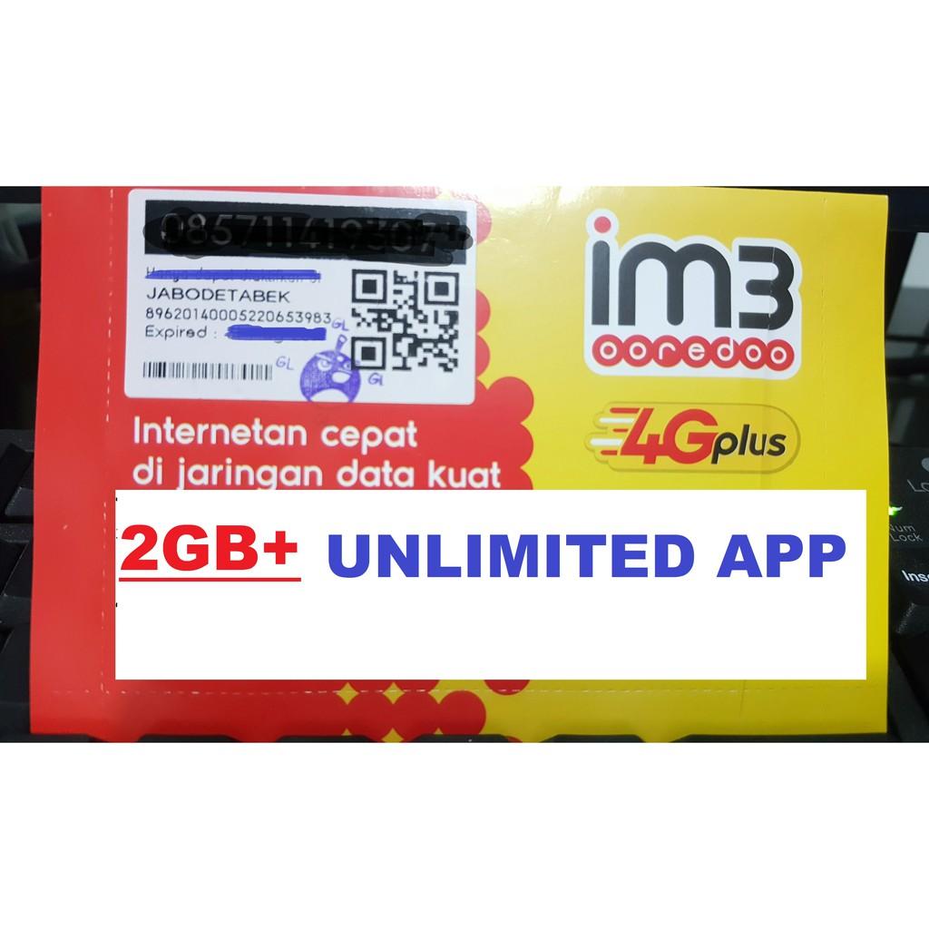 Kartu Perdana Indosat 2gb Unlimited Appilkasi Shopee Indonesia Im3 Ooredoo Rp0