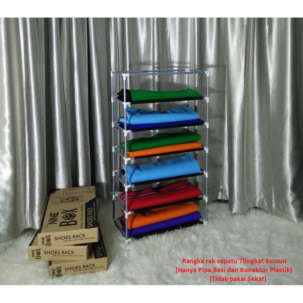 Rak Sepatu 9 Susun 10tingkat Multifungsi Shoes Rack With Dust Cover Best Seller Serbaguna 10 Tingkat Transparan 10grid Shopee Indonesia