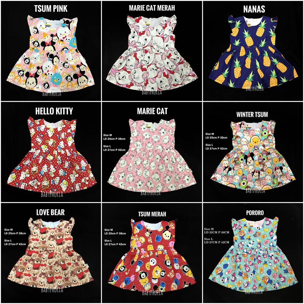 Baju Anak Perempuan Torio Calming Blue Banded Dres Shopee Indonesia Bayi Basic B65 0123 3 6 M