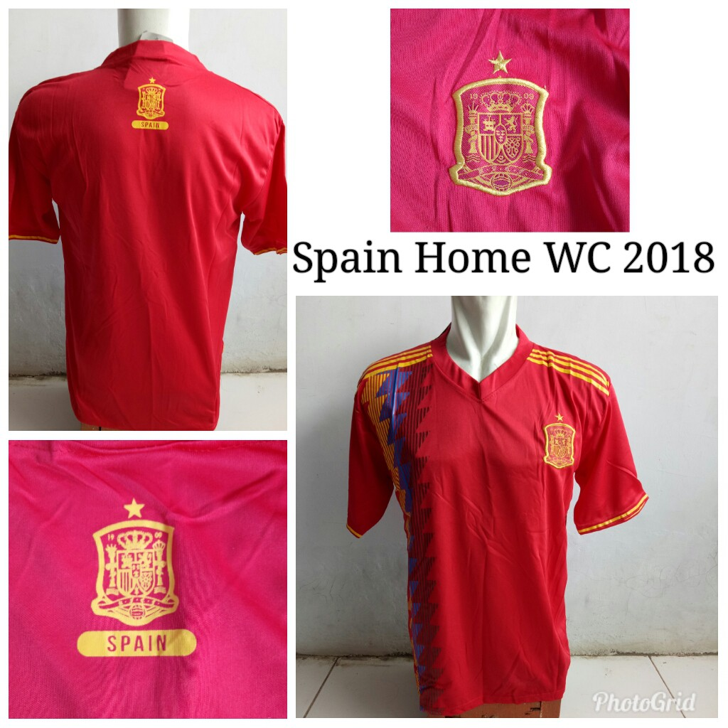 9925c648d81 LOKAL Jersey Baju Spanyol Home Piala Dunia 2018 Jersy Jersi Kaos Bola Spain World  Cup WC 18 ALLSIZE