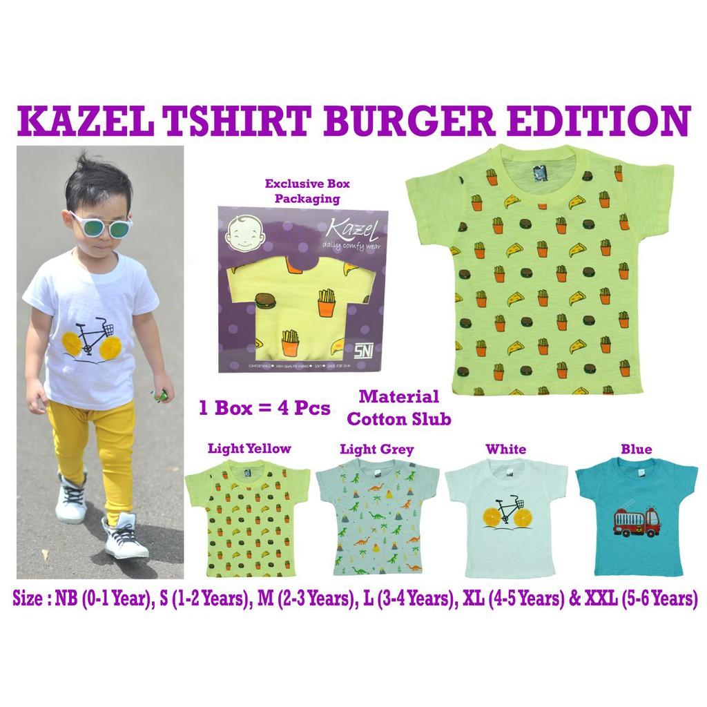 Promo Kazel Tshirt Penguin Edition Isi 6 Pcs Shopee Indonesia Singlet Jumper 6pcs New 9 12 Bulan