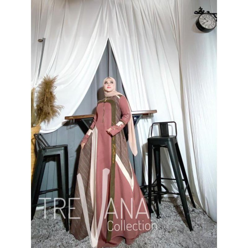 maxi dress trevana(satu set pashmina)/citra maxi by trevana/citra dress by trevana