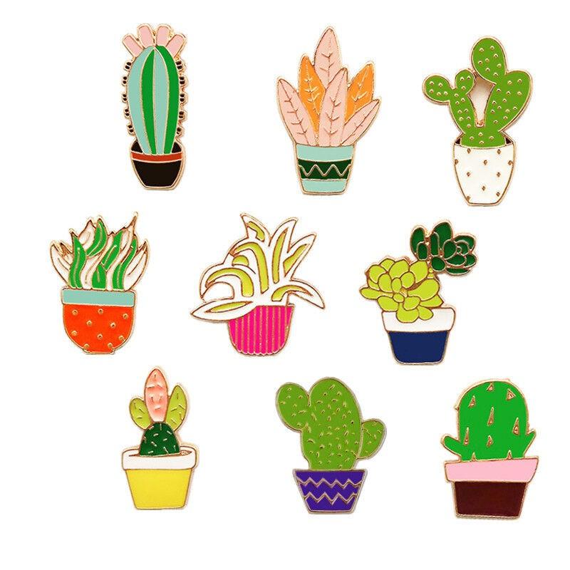 1pc Pin Bros Bentuk Tanaman Kaktus Kartun Shopee Indonesia