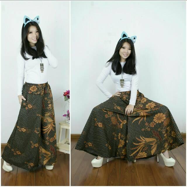 Celana rok kulot batik tokyo jumbo long pant ...