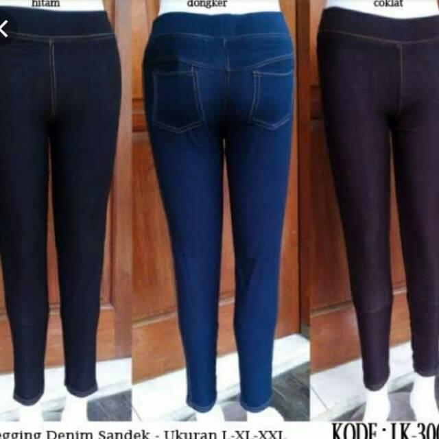 Celana Legging Semi Jeans Denim Streatch Bisa Buat Hamil Ukuran Xxl Nyaman Di Pake Nya Shopee Indonesia