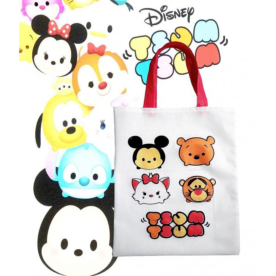 Goo Bag Tsum Tsum Disney Tas Ultah Anak Motif Kartun Lucu Karakter Souvenir Unk Lucu Murah Grosir