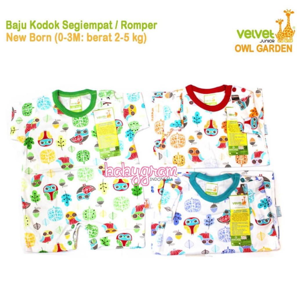 961e7b072166 Velvet Romper jumper SEGIEMPAT Pendek Velvet Junior Newborn Baju ...