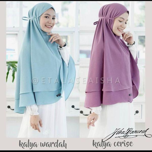 Termurah Hijab Kalya Syria Khimar Jumbo Maryam Azalea Dua Layer Instan Non Ped Antem Bergo Wolfis Shopee Indonesia