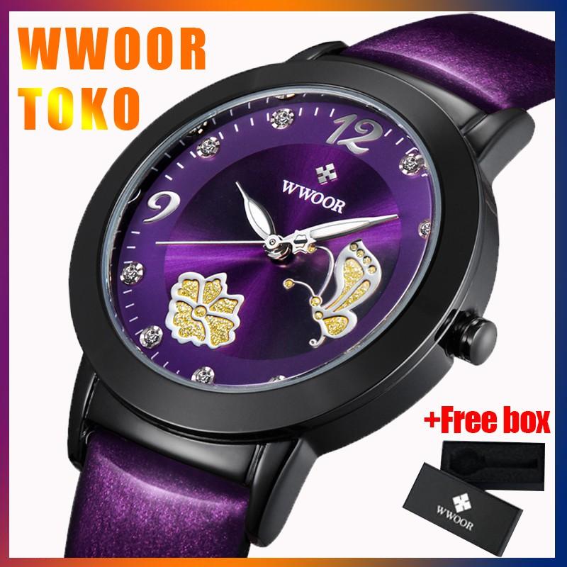 WWOOR 100% Original Jam Tangan Quartz Wanita Tahan air Women Watch 8822