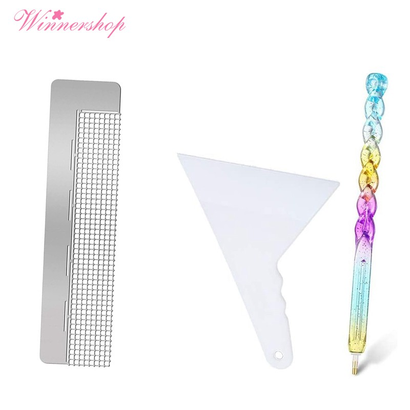 Include 2 Pieces DIY Drawing Ruler with 699 and 400 Blank Grids 6 Pieces 5D Diamond Painting Ruler Tool Set 2 Pieces Diamond Painting Fix Tool and 2 Diamond Painting Drill Pen for Painting Supplies