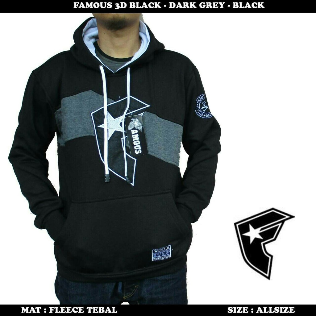 Jaket sweater famous 3d zipper hoodie  64bbfc60dd