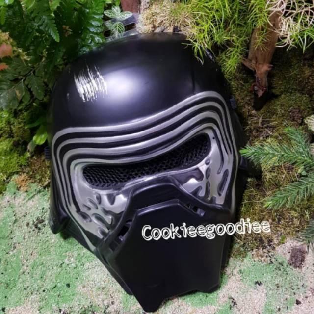 Child Star Wars The Force Awakens Kylo Ren 1//2 Helmet