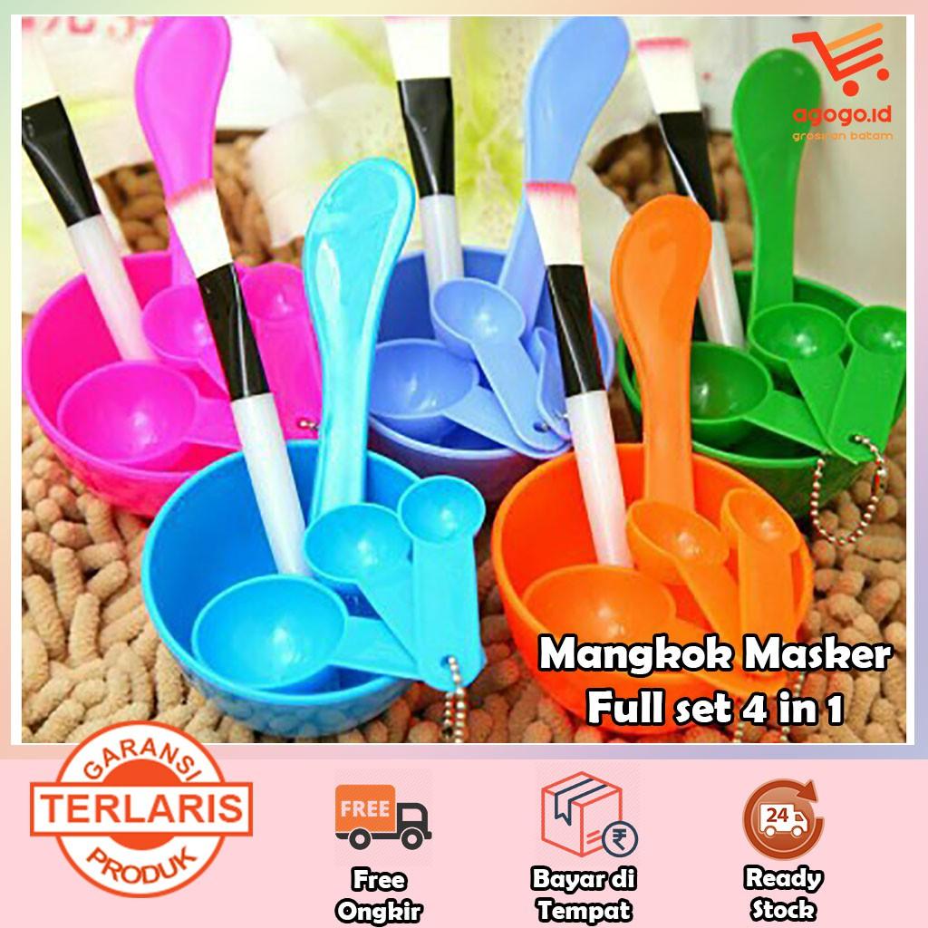 Mangkok + Sendok Bahan Plastik untuk Tempat Masker DIY [Monking] | Shopee Indonesia