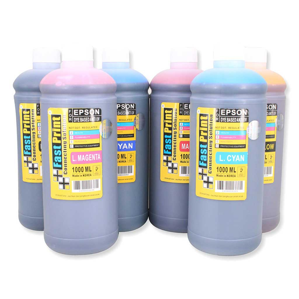 Tinta Original Epson L Series L120 L1300 L310 L1800 L220 L360 L210 Fast Print Magenta 70ml Photo Ultimate Plus Uv Khusus 6 Warna L800 L850 L350 L110 L300 Shopee Indonesia