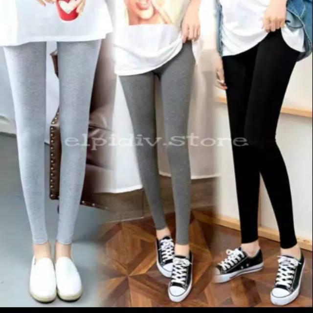 Legging Panjang Bahan Kaos Wanita Legging Kaos Legging Murah Rayon Premium Shopee Indonesia