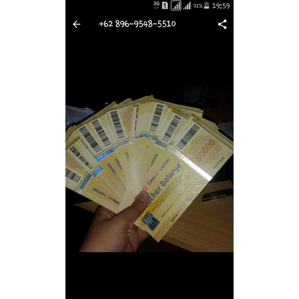 Voucher Alfamart Rp 1500000 Shopee Indonesia Baruu Alfamidi Lawson Pecahan 50000
