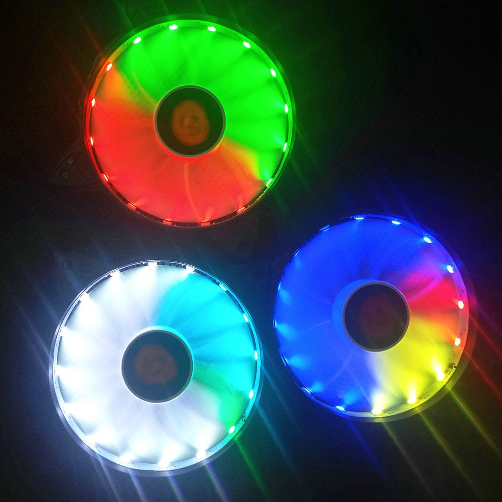 New Cooling Set 120mm Led Rgb Case Panel Fan Control Pc Computer Segotep Casing Yf 12 12cm Blue Hydro Bearing Quiet Shopee Indonesia