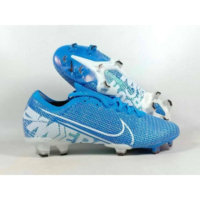 Sepatu Bola Nike Mercurial Vapor Xiii Elite Cyan Blue Fg Shopee