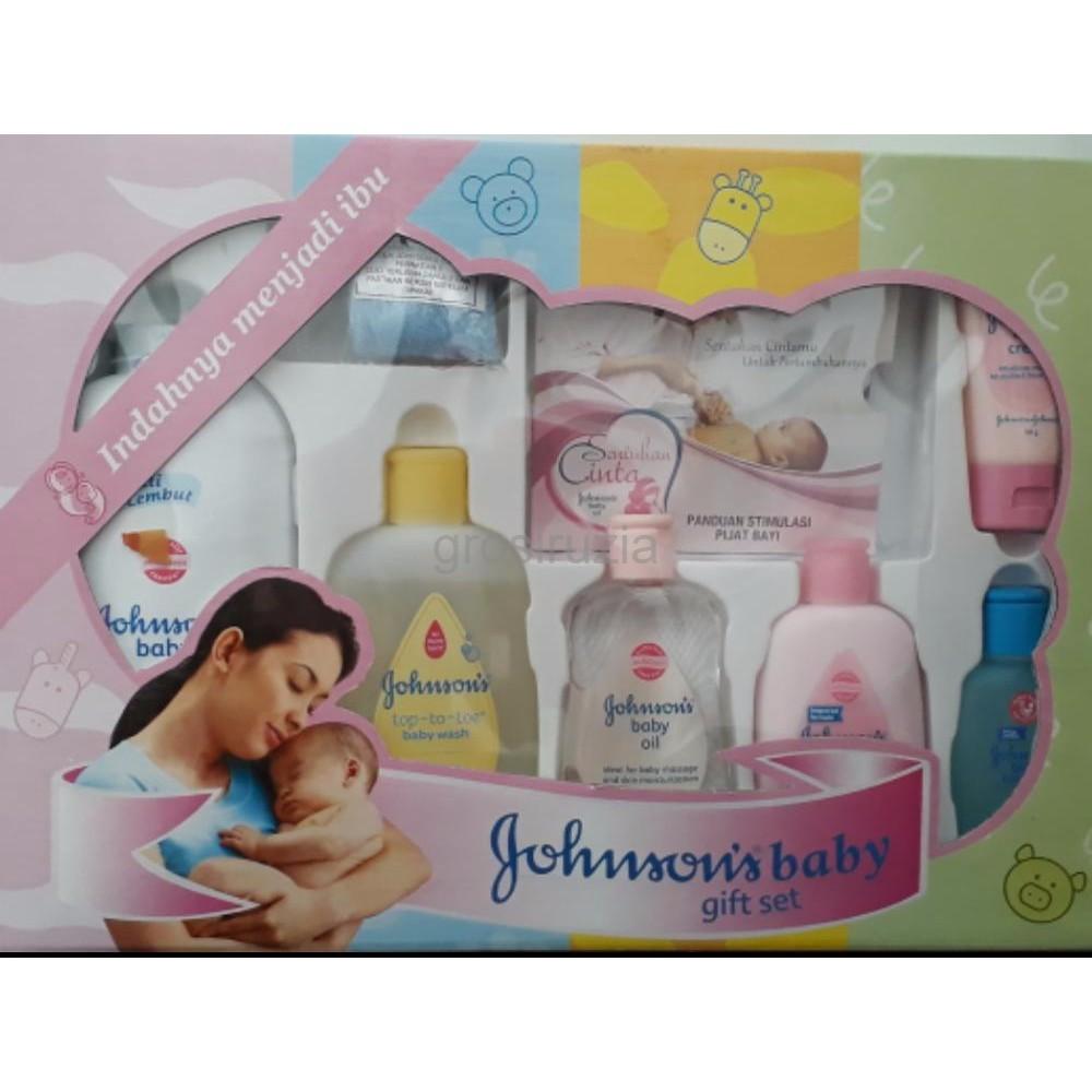 Johnson Gift Set Box Peralatan Mandi Bayi Sabun Sampo Paket Cusson Shopee Indonesia