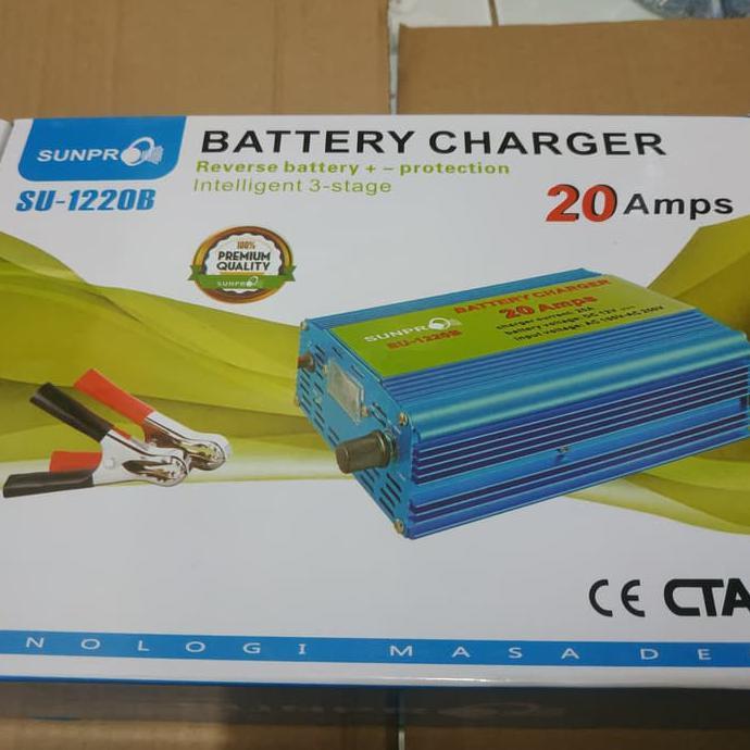 Charger Aki Mobil Cas Aki Mobil Smart Fast Charger 20A | Charger Aki Mobil