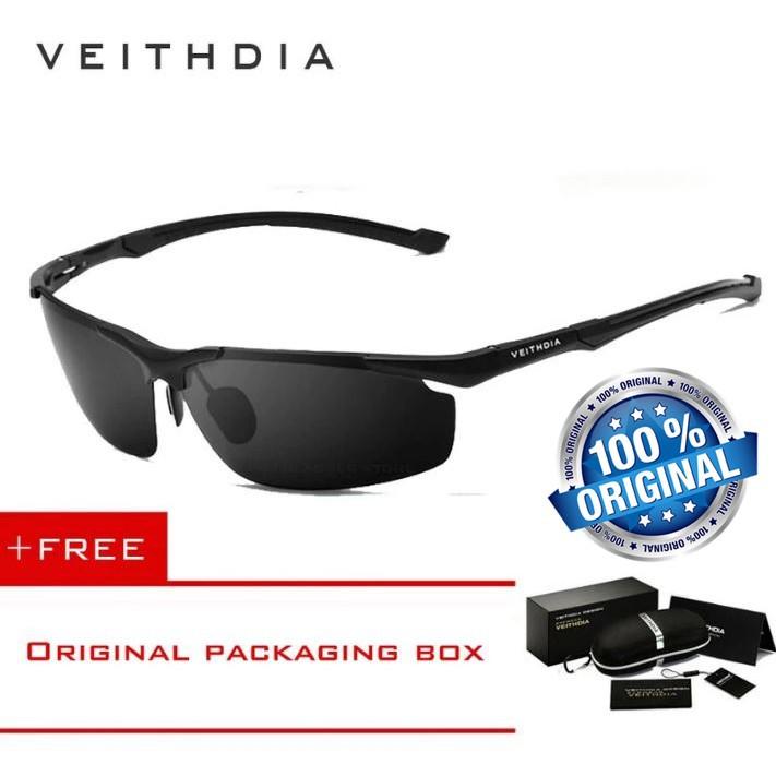 Kacamata VEITHDIA 6592 Aluminum Sunglasses Polarized Sports Mens Eyewear  Accessories (BIack)  013f020d37