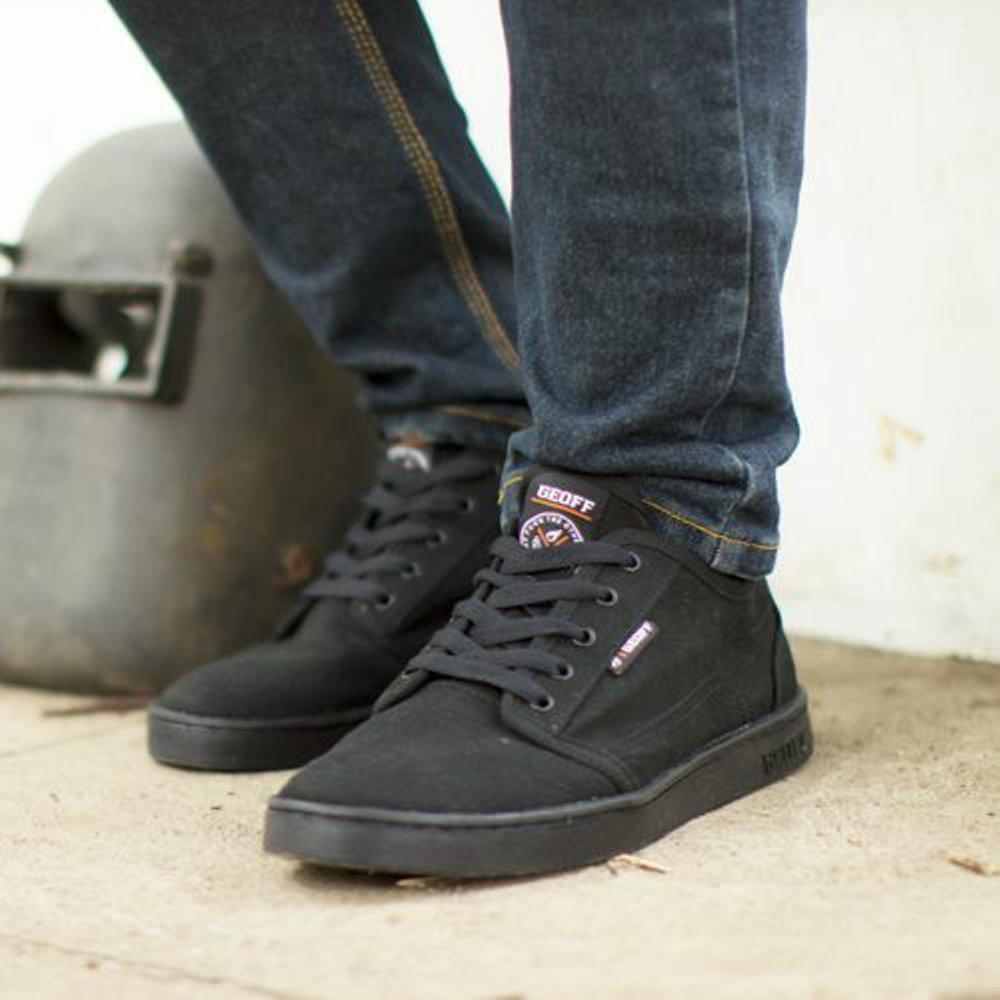 Sepatu Geoff Max Knoxville All Black Original - Hitam d5939a4ece