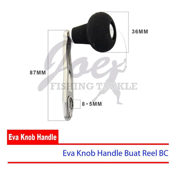 Handle with EVA Knob for Many Shimano Bait Caster Reels 2 Bearings Included