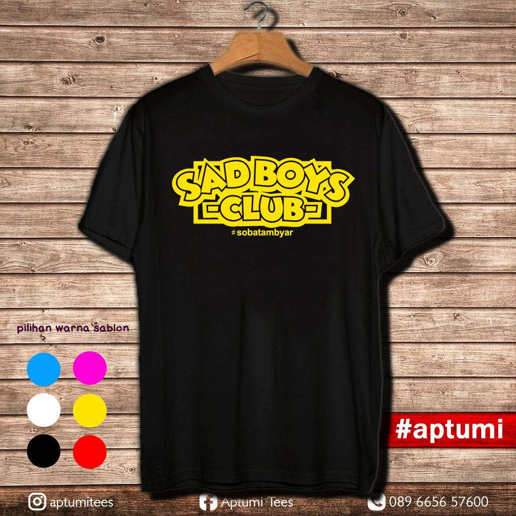 Kaos T Shirt Premium Didi Kempot Sobat Ambyar Sad Boy Club