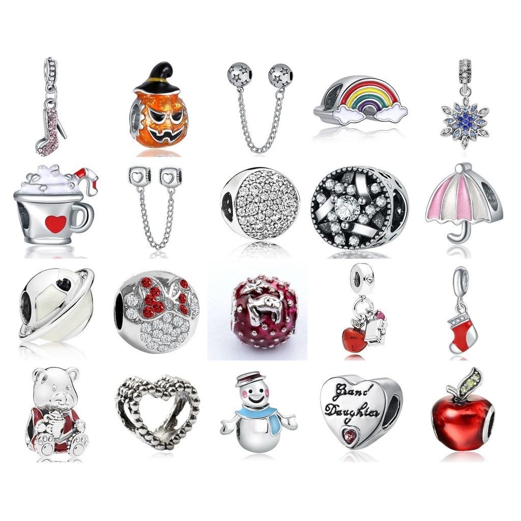 Little Animal Silver Charms Pendants Crystal Cz Gelang Fit Original Pandora 925 European Bracelet Beads Shopee Indonesia