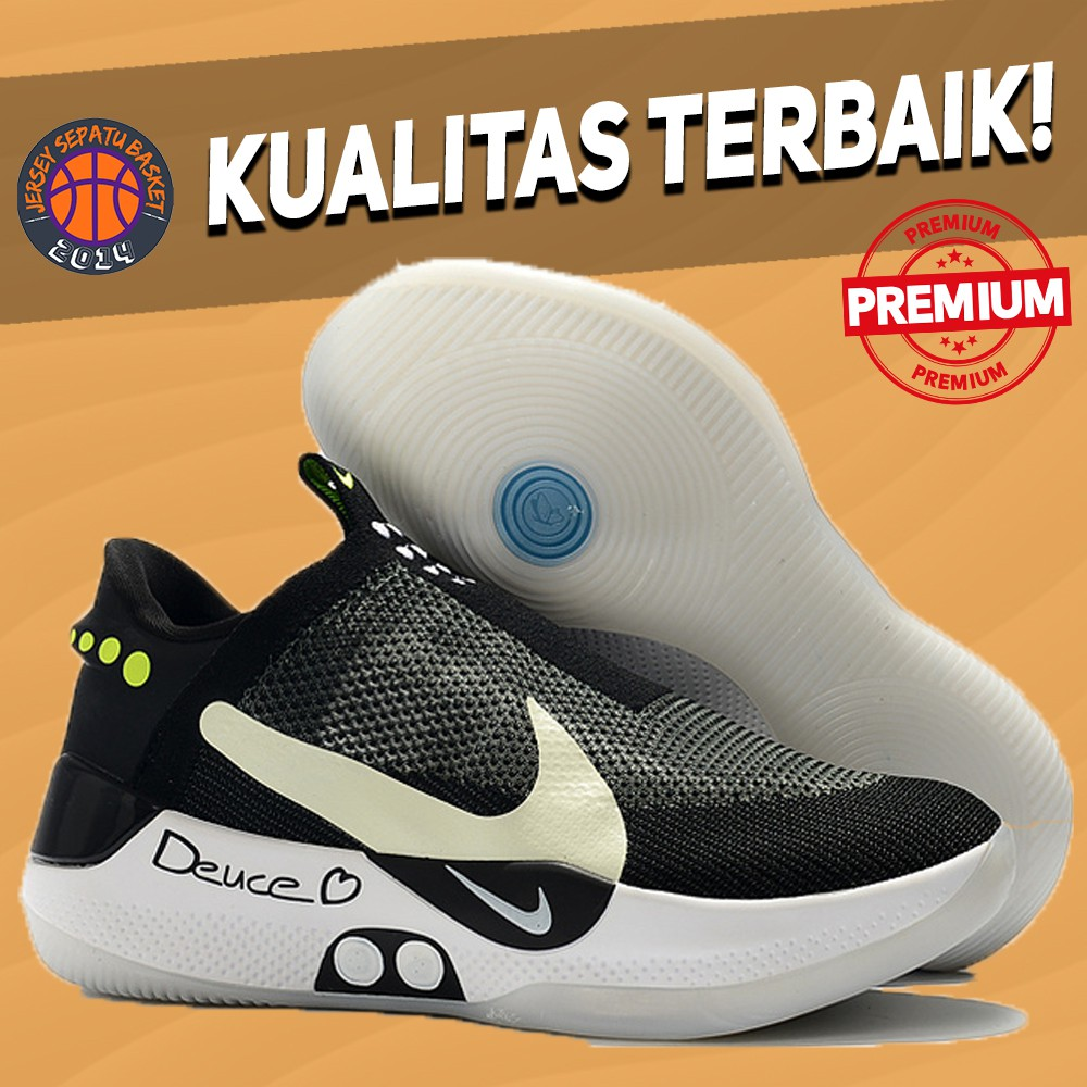 Sepatu Basket Sneakers Nike Adapt Bb Black White Pria Wanita Import Termurah Olahraga Sport Shoes Shopee Indonesia