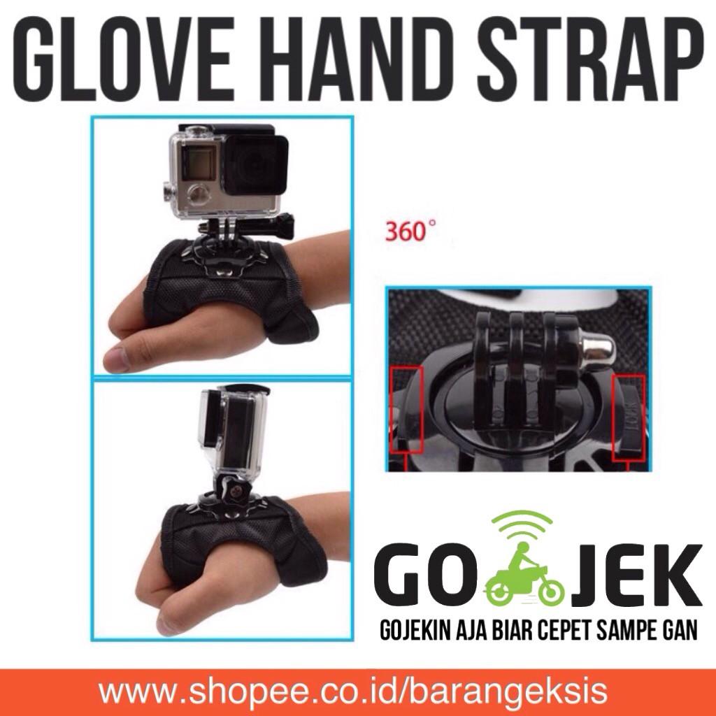 GoPro Action Camera 360 Glove Hand Strap for GOPRO, BRICA B-PRO & Xiaomi Yi Camera   Shopee Indonesia