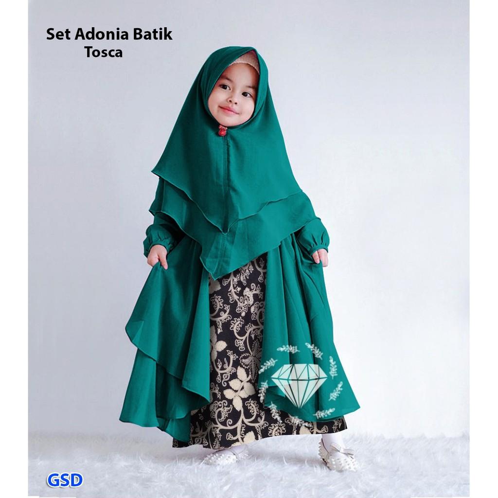 Syari Anak Cewek Terbaru Usia 4 7 Thn Model Gamis Batik Muslim Fashion Anak Syari Adonia Batik