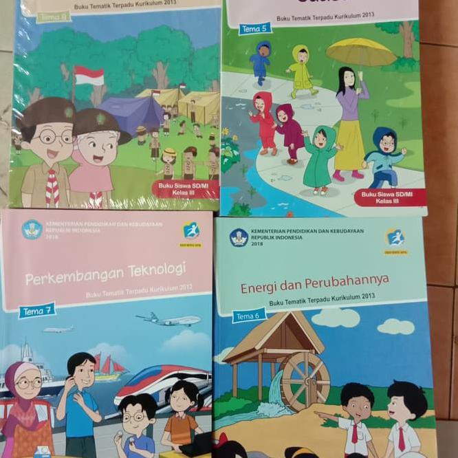 Buku Sekolah Buku Sekolah Paket Tematik Sd Kelas 3 Semester 2 Tema 5 6 7 8 Shopee Indonesia