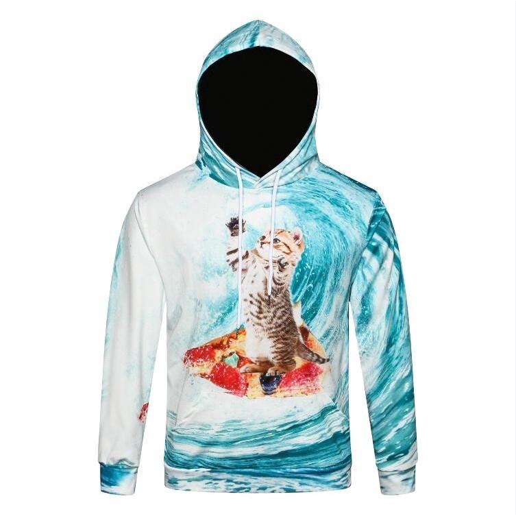 [Bayar Di Tempat]CC Sweater Hoodie Motif Print Digital Bintang 3D untuk Pria | Shopee Indonesia